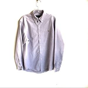 Ralph Lauren Lavender Button Down Dress Shirt